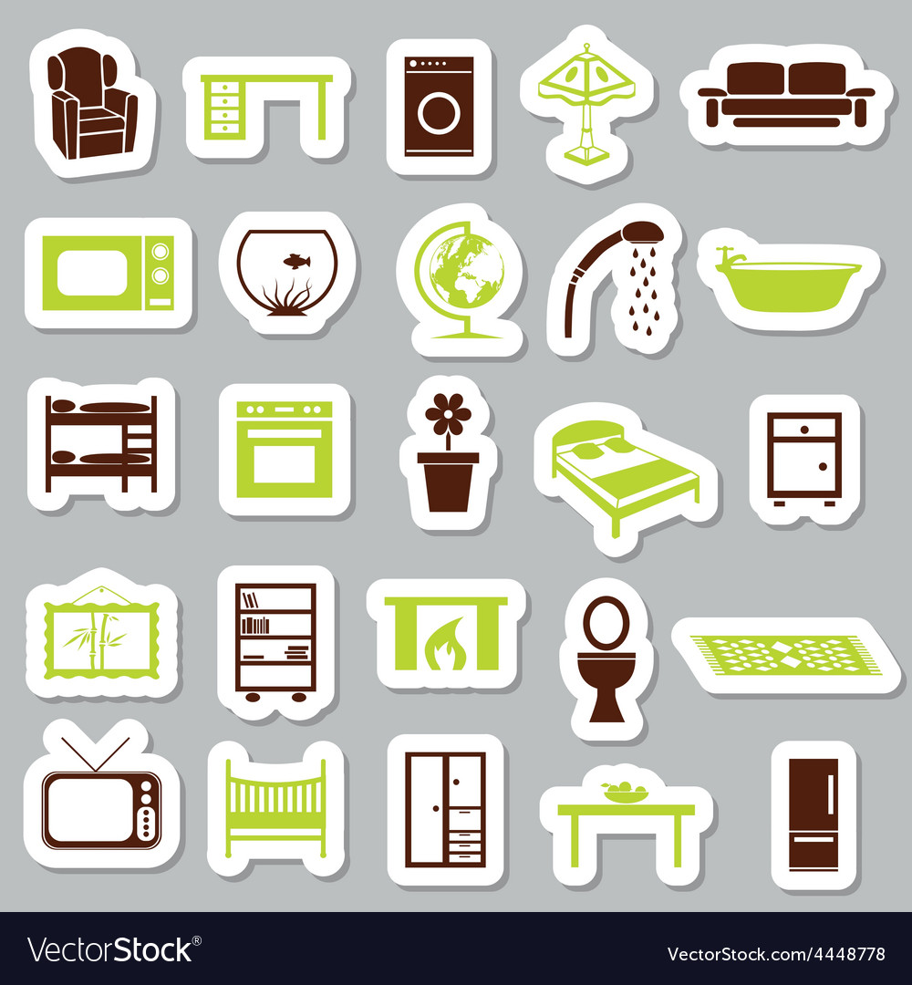 Home equipment stickers vector | Price: 1 Credit (USD $1)