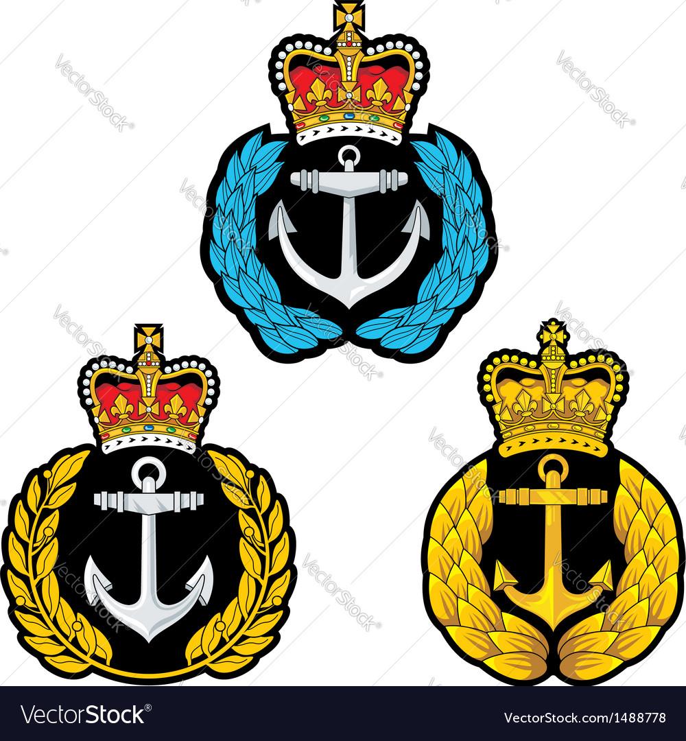 Navy cap badge vector | Price: 1 Credit (USD $1)