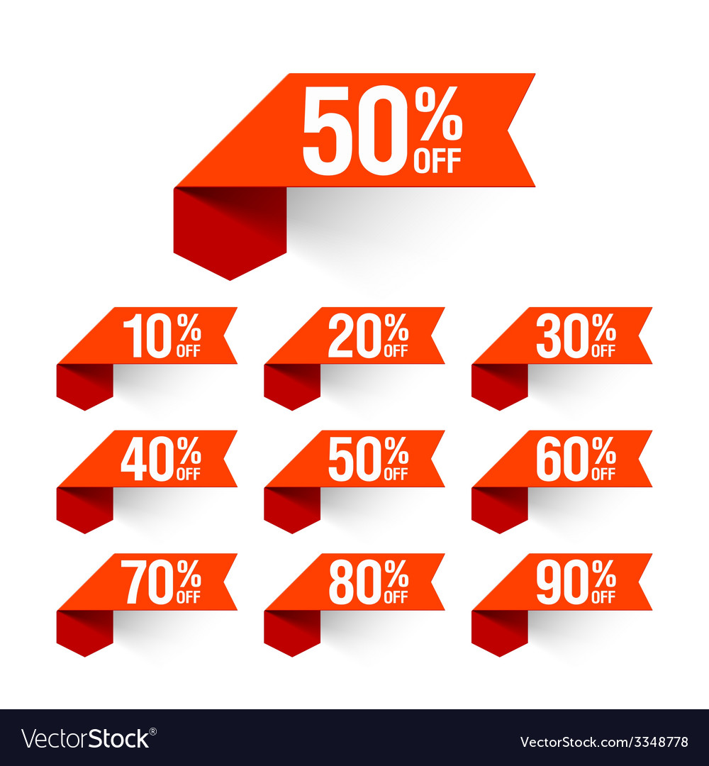 Sale discount labels vector | Price: 1 Credit (USD $1)
