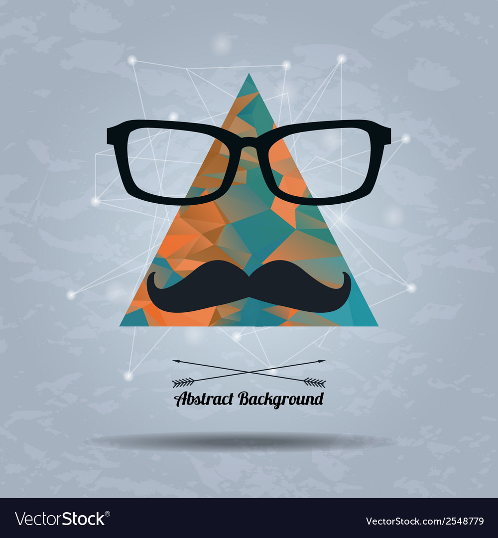 Abstract hipster background with triangle vector | Price: 1 Credit (USD $1)
