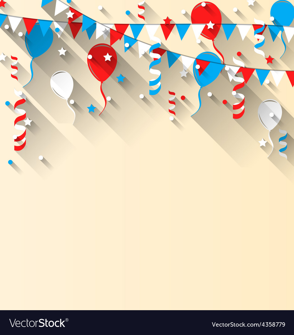 American patriotic background with balloons vector | Price: 1 Credit (USD $1)