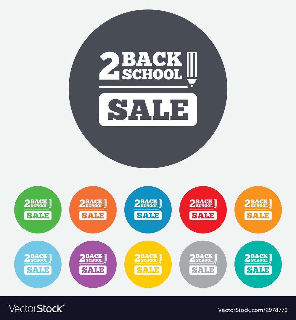 Back to school sign icon back 2 school symbol vector | Price: 1 Credit (USD $1)