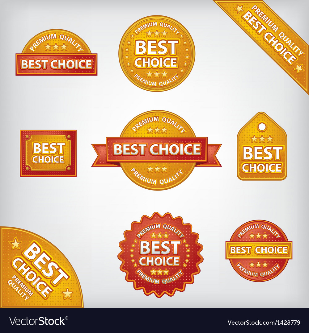 Best choice labels vector | Price: 1 Credit (USD $1)