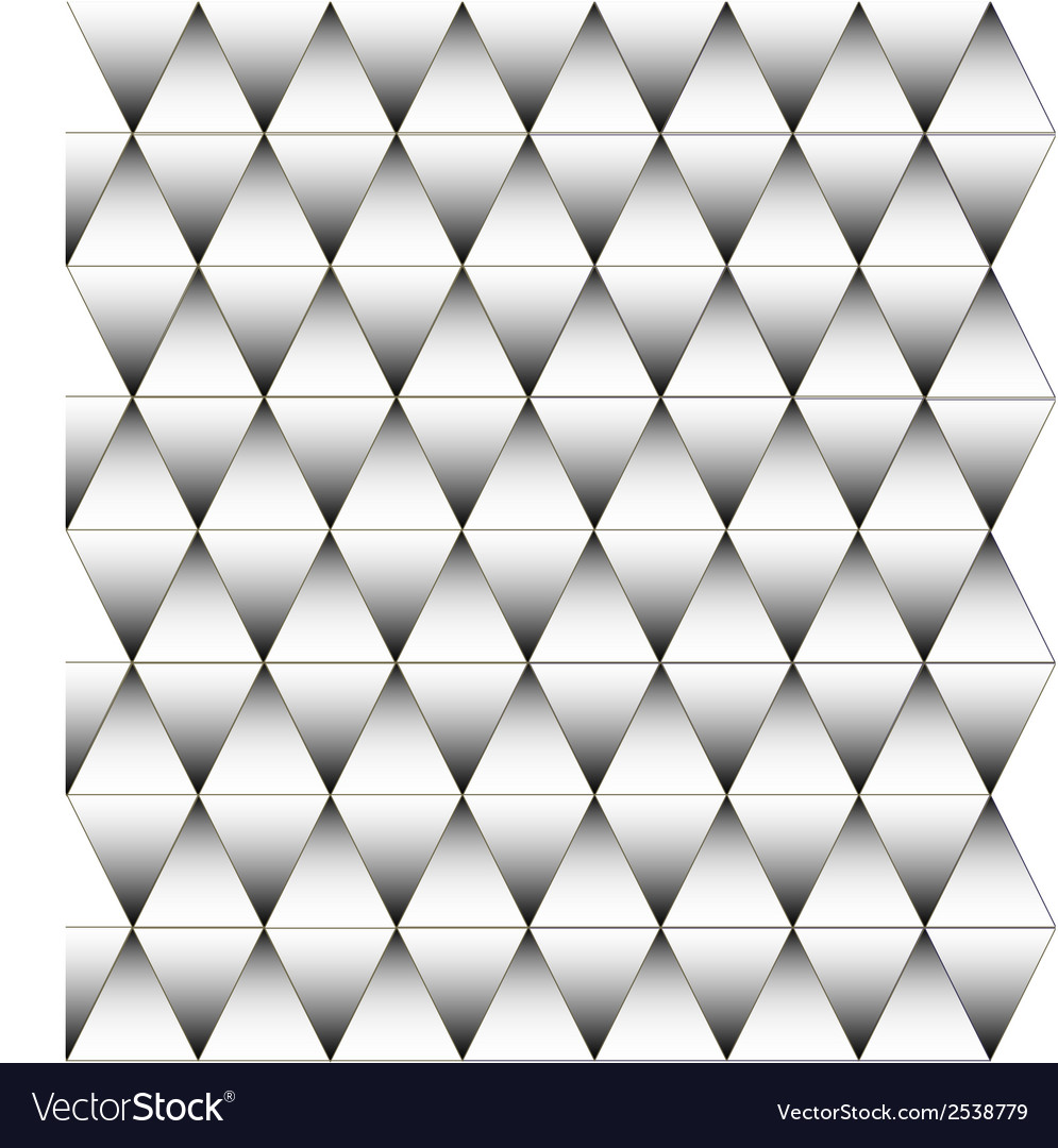 Black and white triangle pattern background vector | Price: 1 Credit (USD $1)