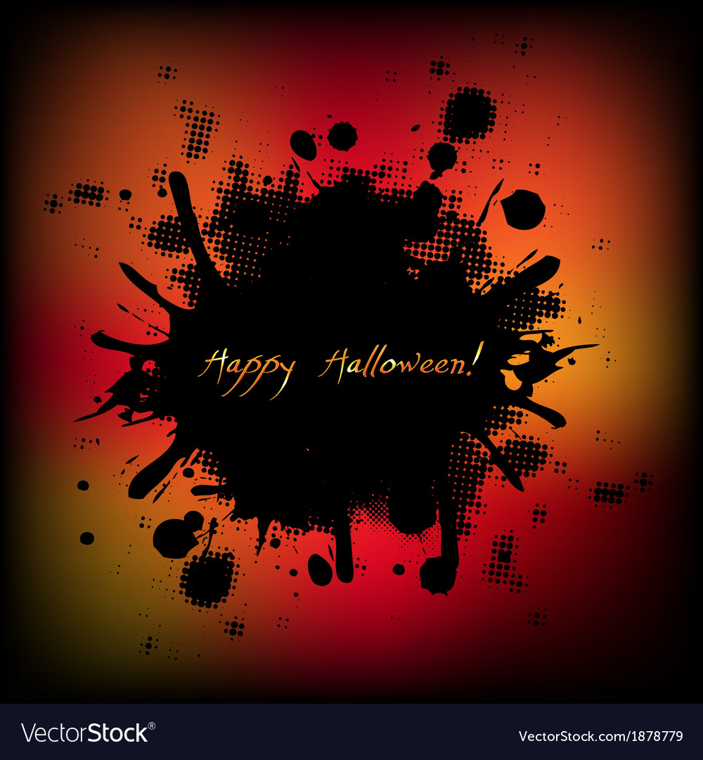 Black halloween with blobs vector | Price: 1 Credit (USD $1)