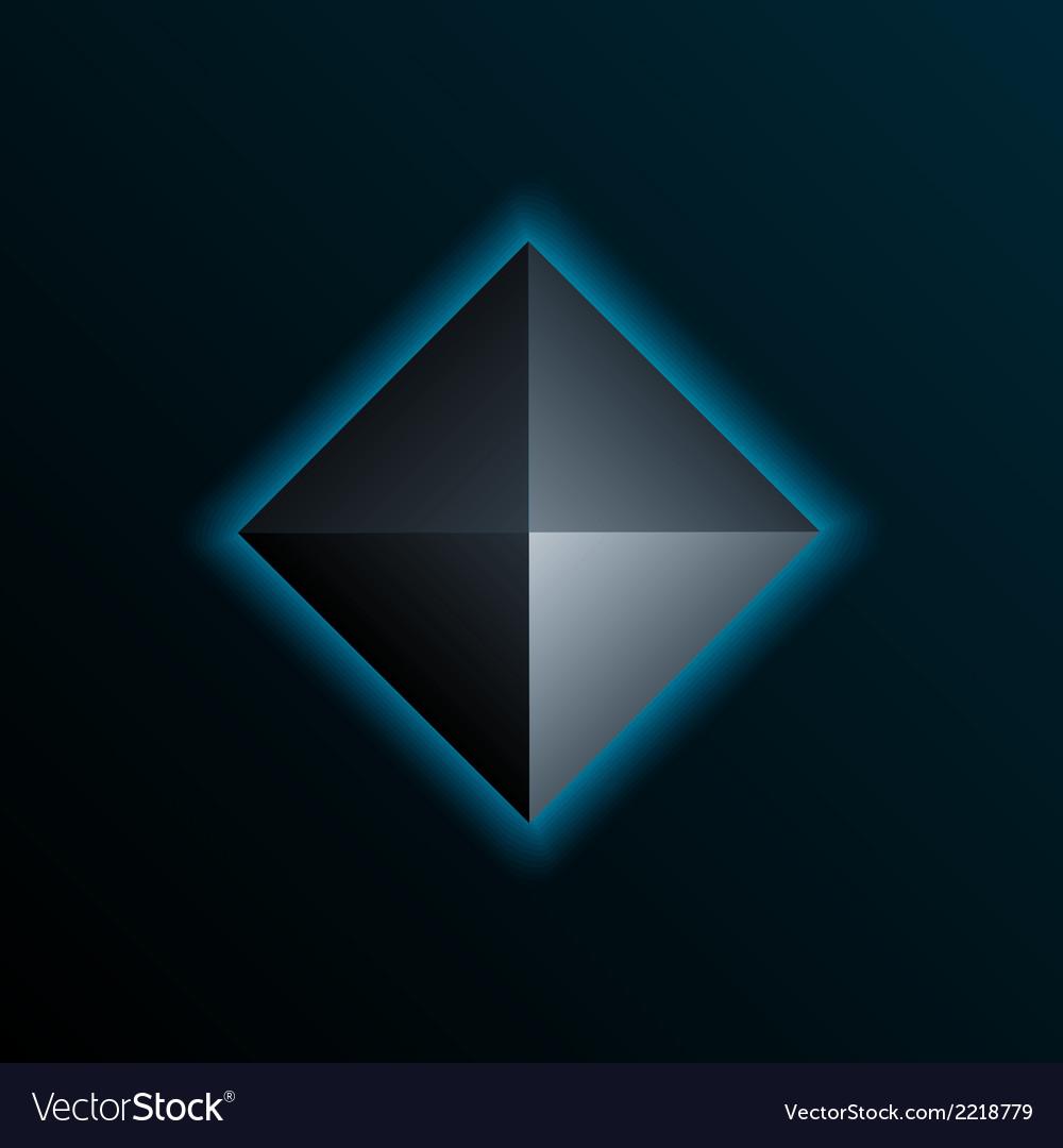 Blue pyramid vector | Price: 1 Credit (USD $1)