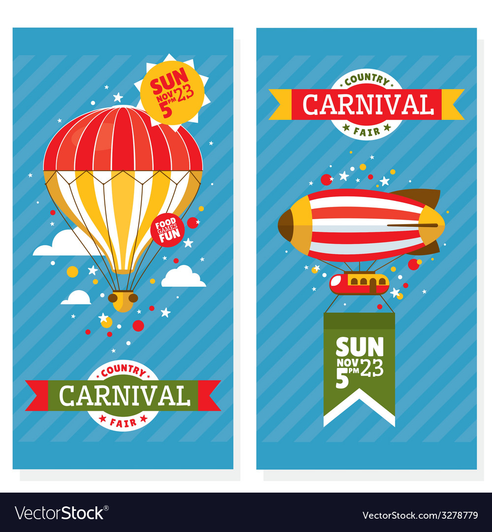 Country fair vintage invitation cards vector   Price: 1 Credit (USD $1)