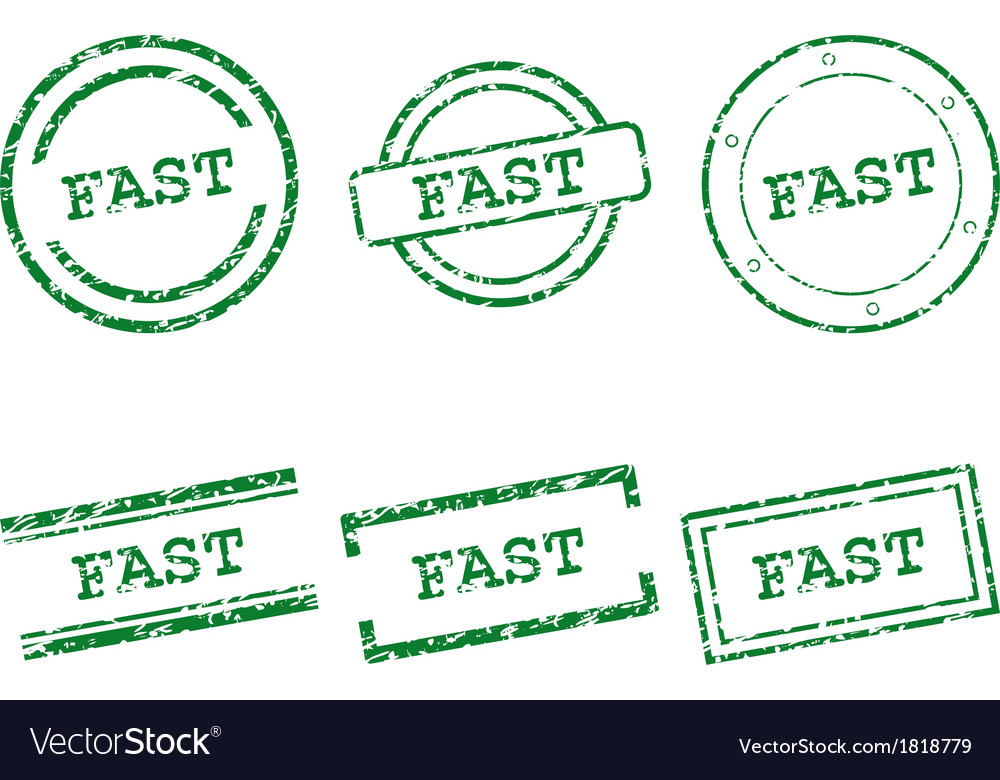 Fast stamps vector | Price: 1 Credit (USD $1)