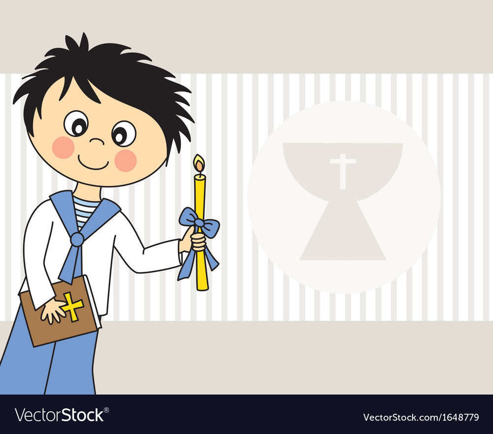 First communion boy vector   Price: 1 Credit (USD $1)