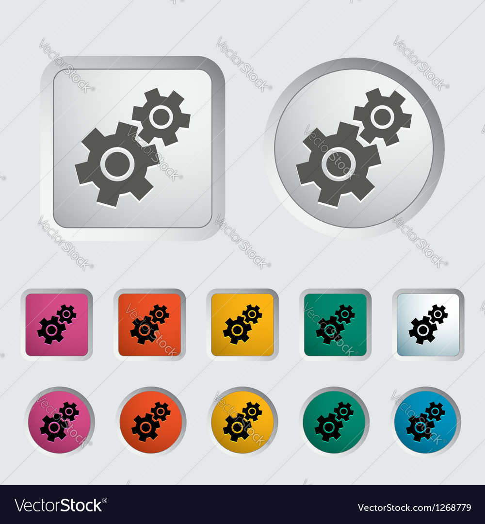 Gear icon 2 vector | Price: 1 Credit (USD $1)