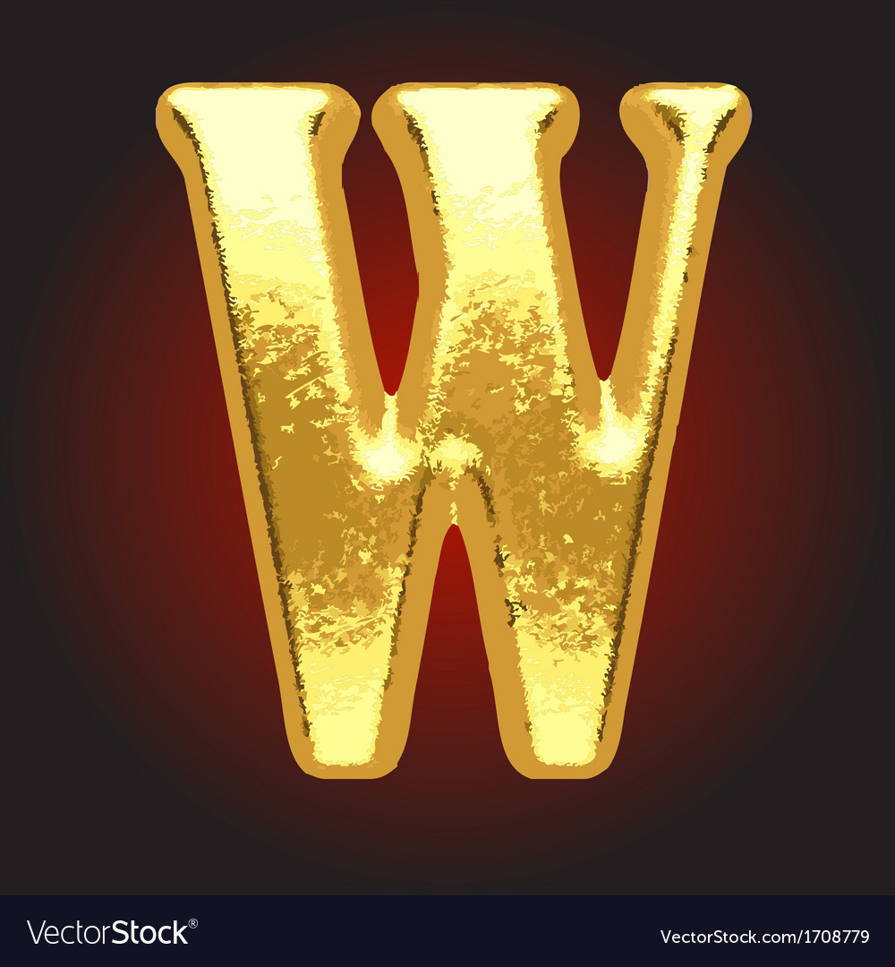 Golden letter on red vector | Price: 1 Credit (USD $1)