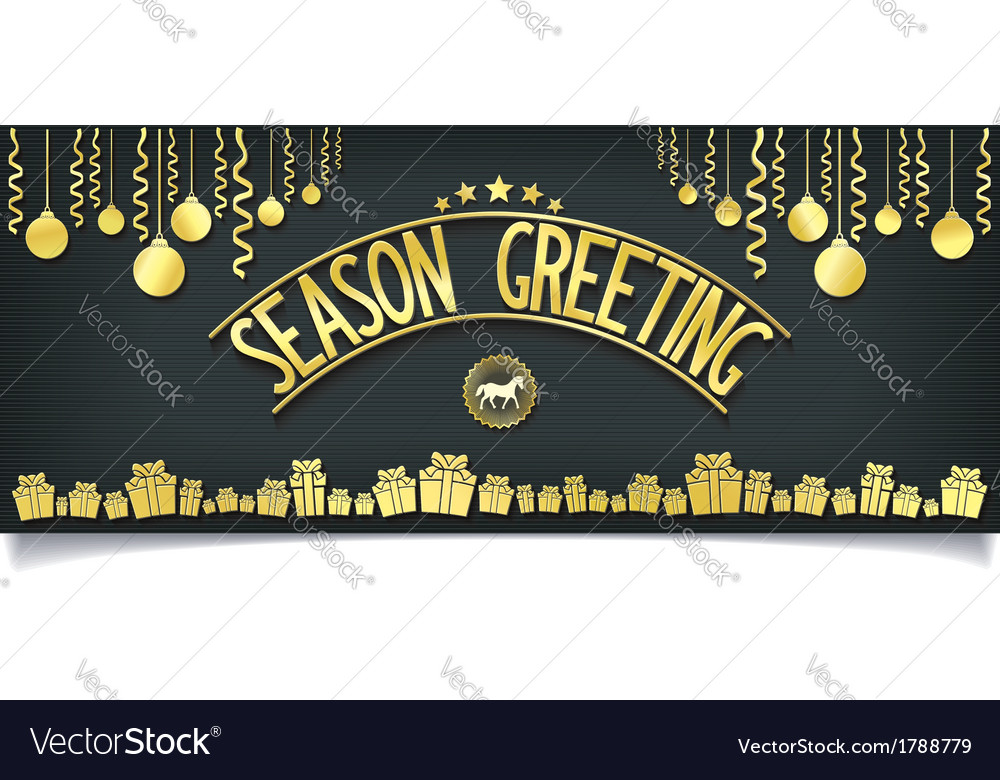 Greeting card with gold lettering decoration vector | Price: 1 Credit (USD $1)