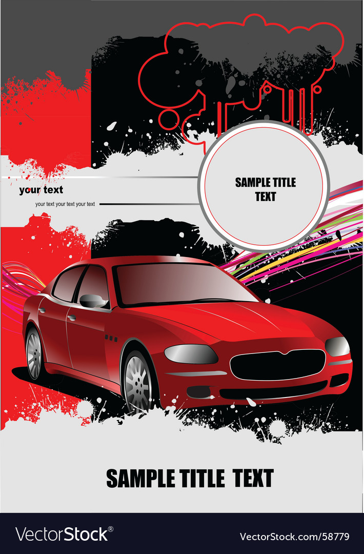 Grunge background with car vector | Price: 1 Credit (USD $1)
