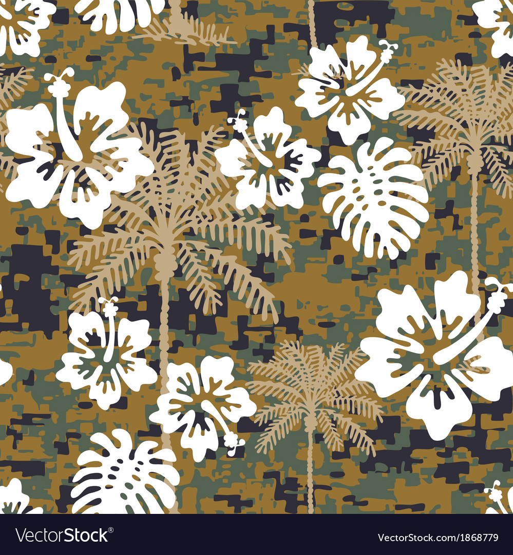 Hawaiian marine camo vector | Price: 1 Credit (USD $1)