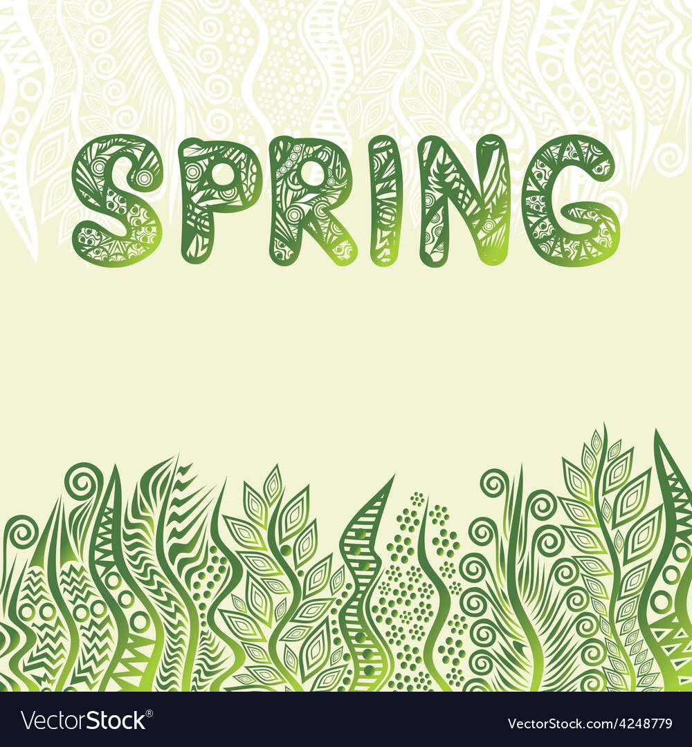 Nature pattern background spring vector | Price: 1 Credit (USD $1)