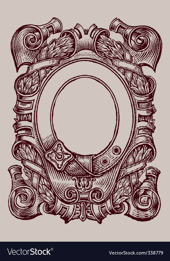 Old page engraving vector | Price: 1 Credit (USD $1)