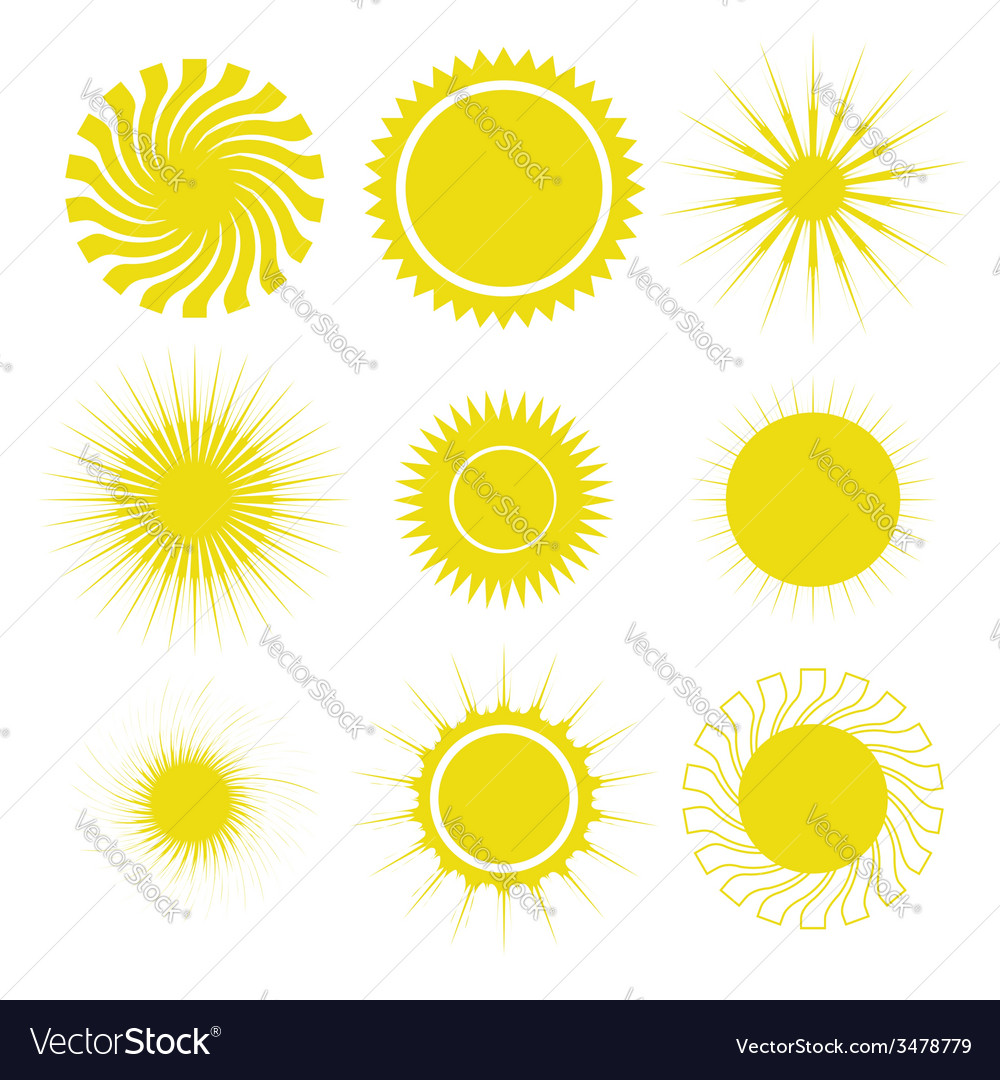 Sun set vector | Price: 1 Credit (USD $1)