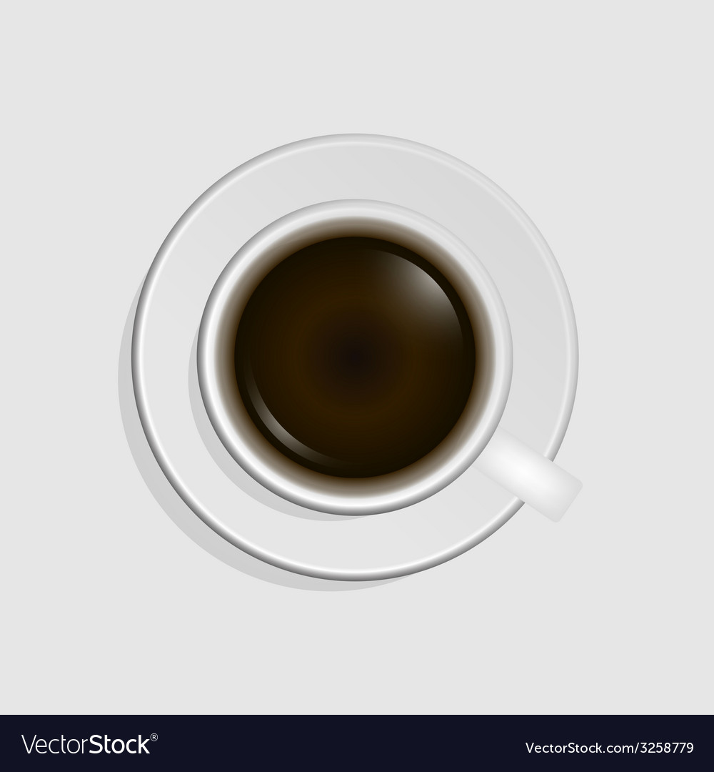 Top view of coffee cup vector | Price: 1 Credit (USD $1)