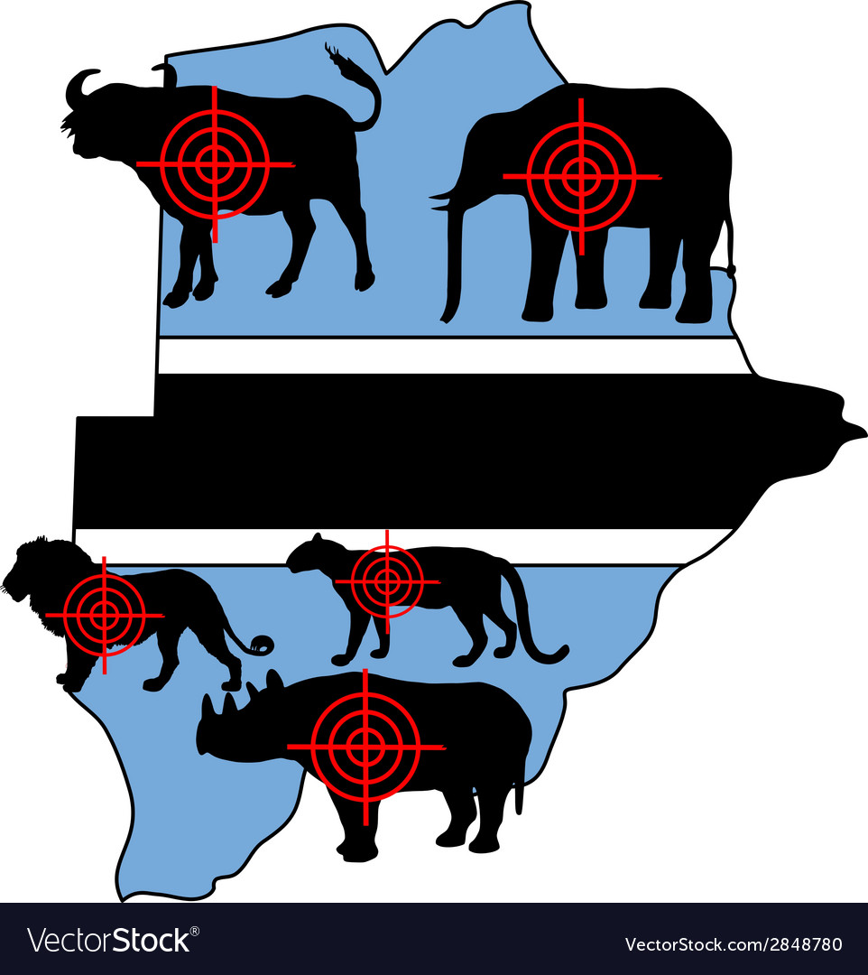 Big five cross hairs botswana vector | Price: 1 Credit (USD $1)