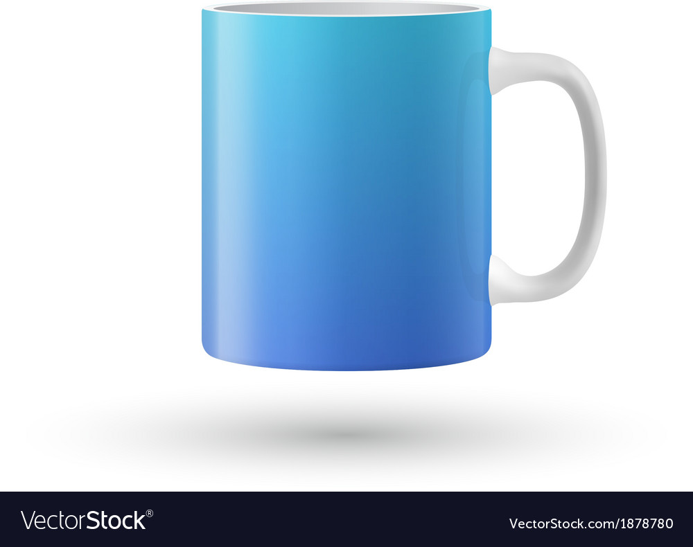 Blue cup isolated on white background vector | Price: 1 Credit (USD $1)