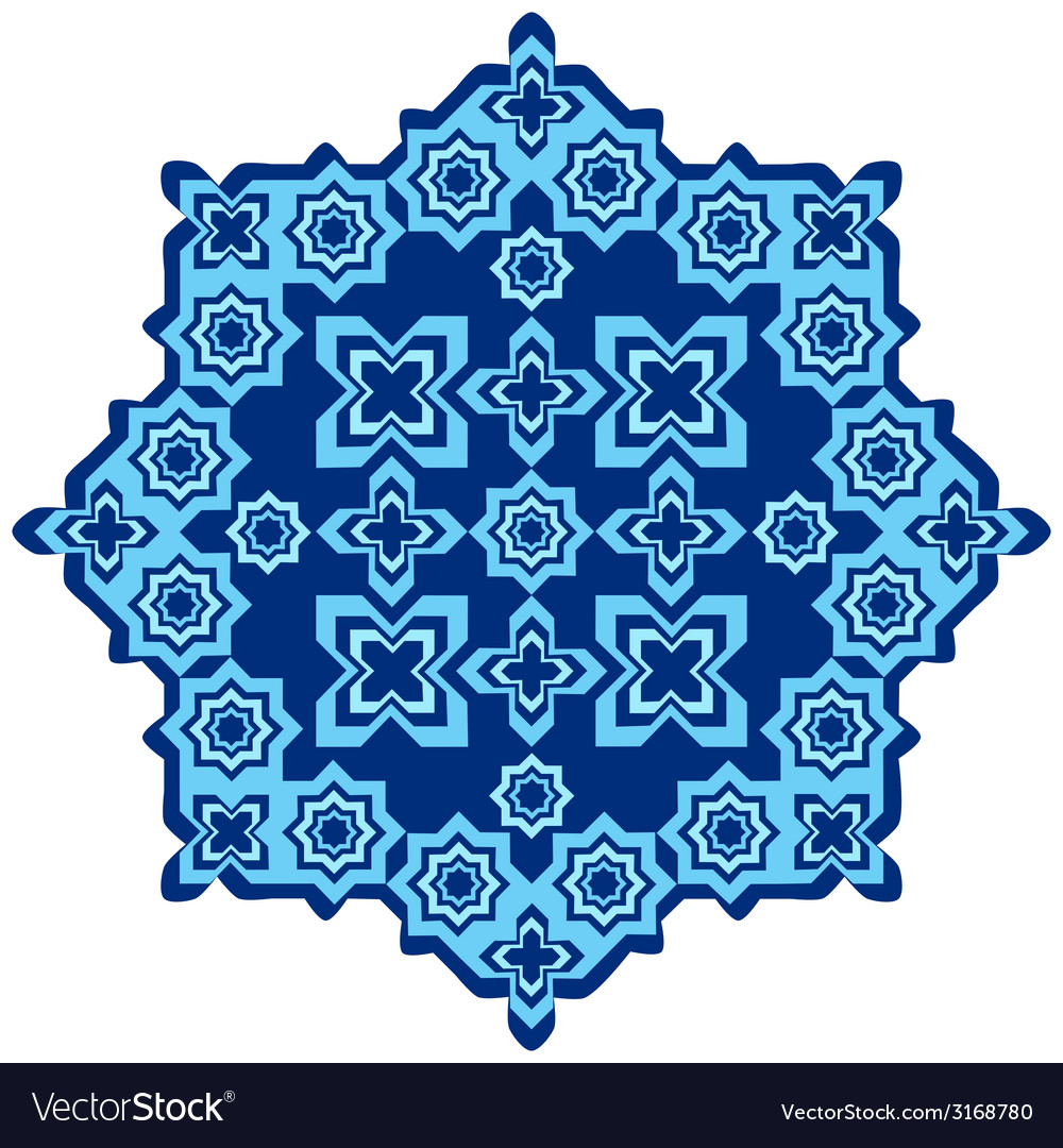 Circular islamic background one vector | Price: 1 Credit (USD $1)