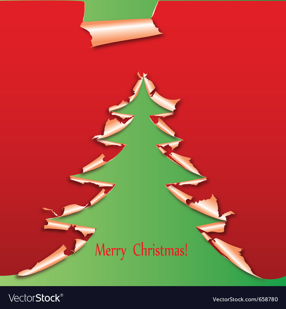 Creative christmas tree paper vector | Price: 1 Credit (USD $1)
