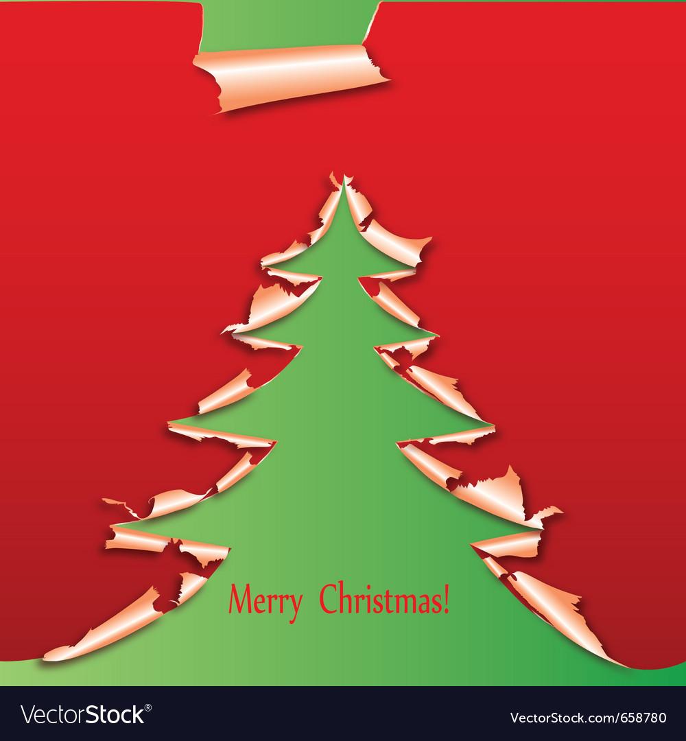 Creative christmas tree paper vector   Price: 1 Credit (USD $1)