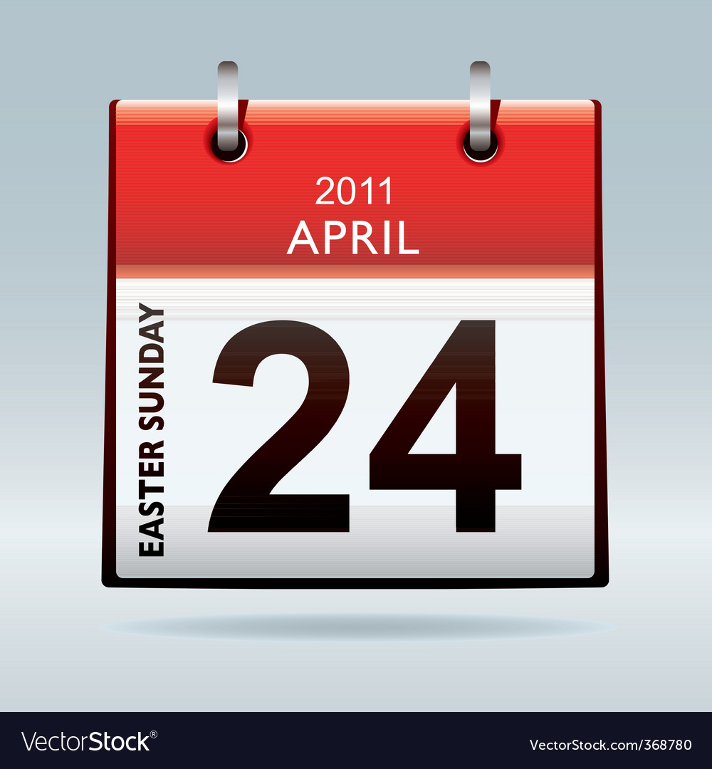 Easter sunday calendar icon vector | Price: 1 Credit (USD $1)