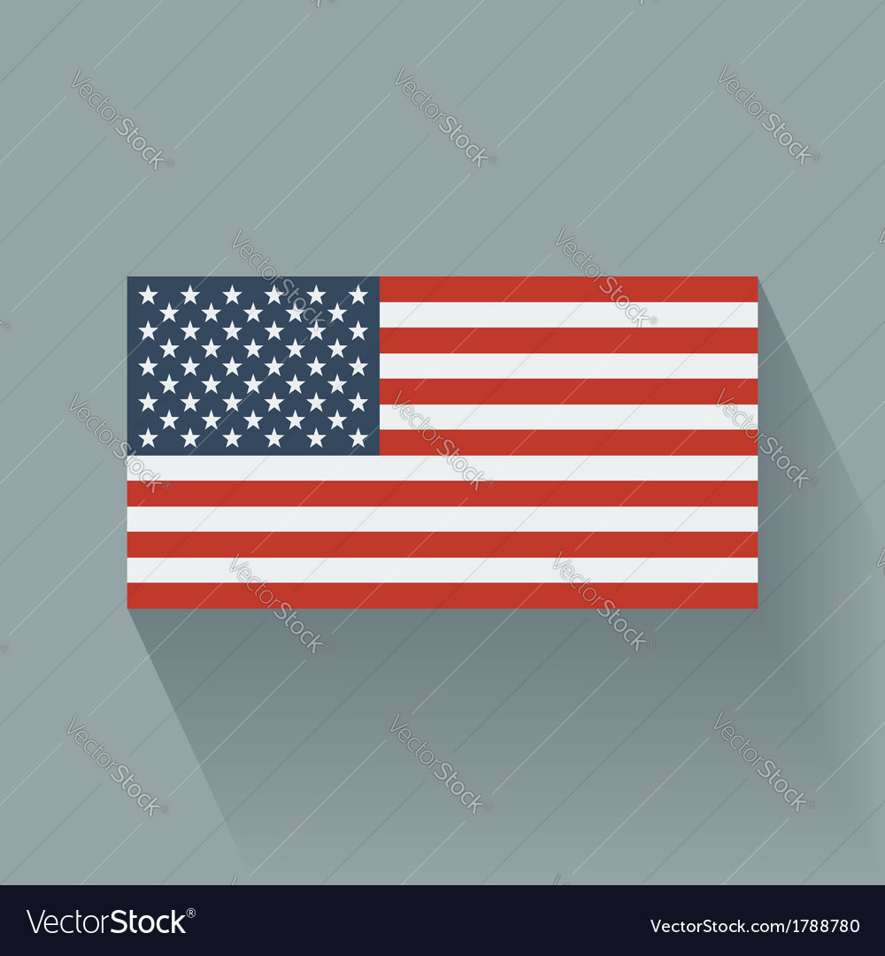 Flat flag of the usa vector | Price: 1 Credit (USD $1)