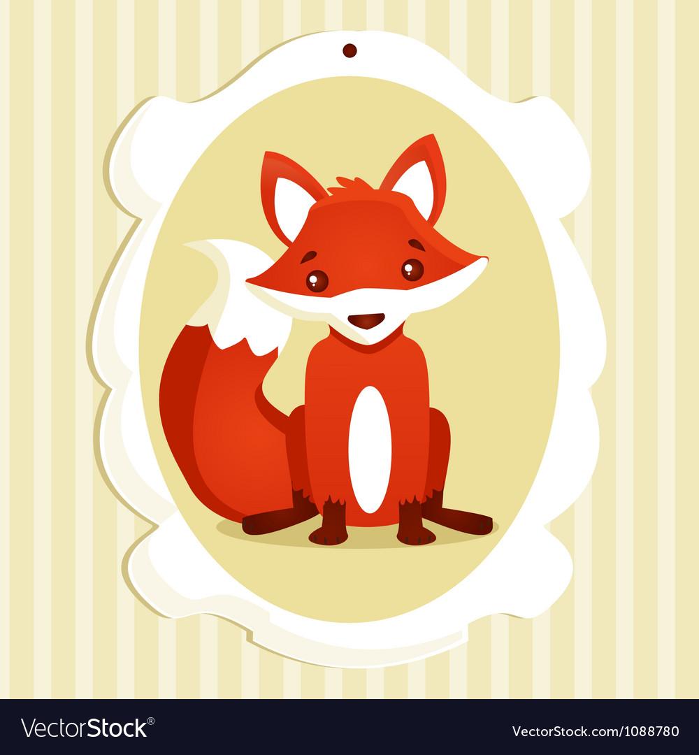 Fox frame vector | Price: 1 Credit (USD $1)