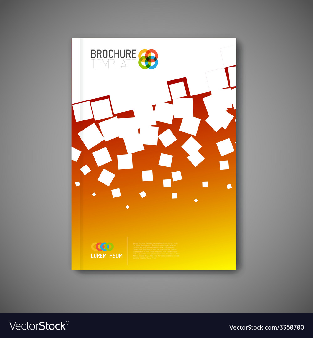 Modern abstract brochure report design template vector   Price: 1 Credit (USD $1)