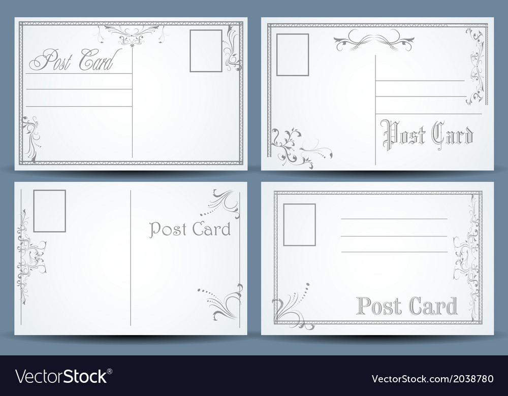 Post cards vector | Price: 1 Credit (USD $1)