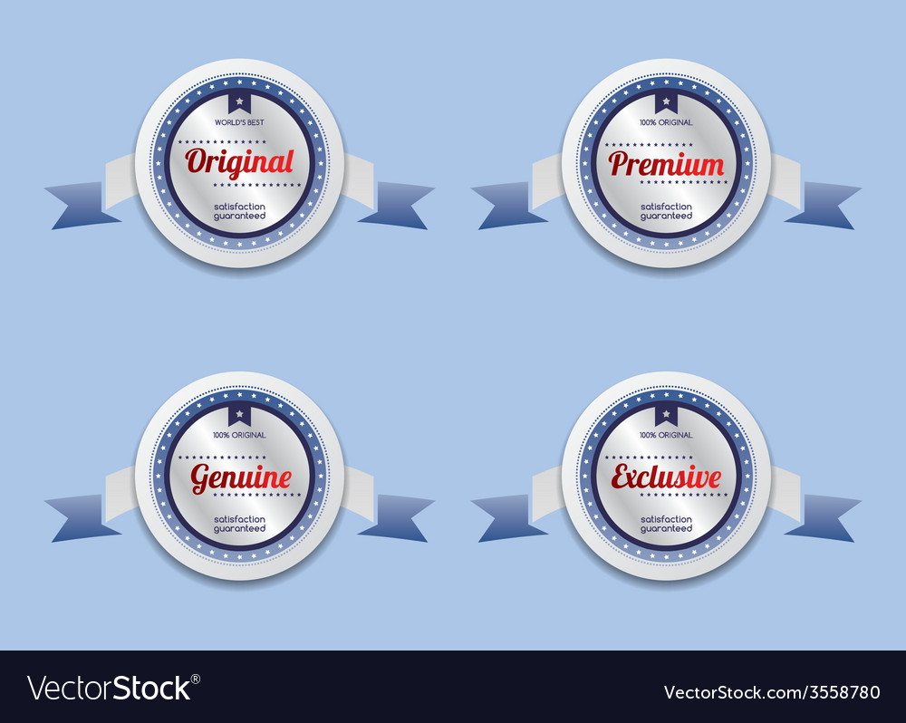Product sale and quality label sticker vector | Price: 1 Credit (USD $1)