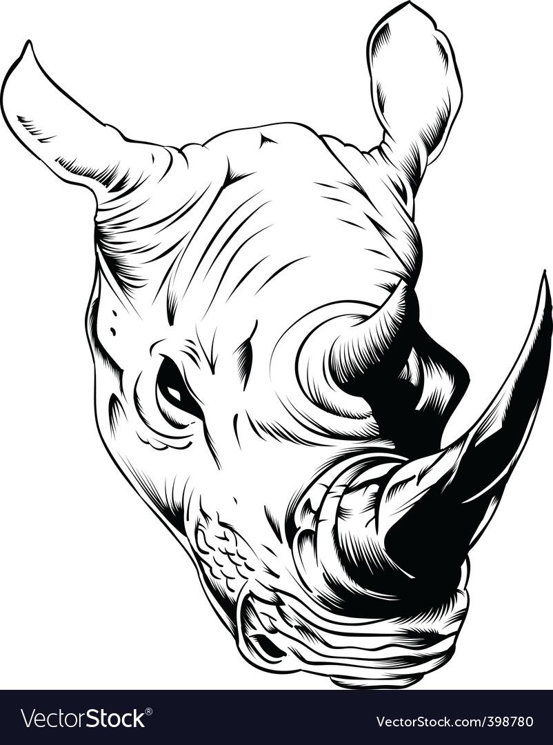 Rhino vector | Price: 3 Credit (USD $3)