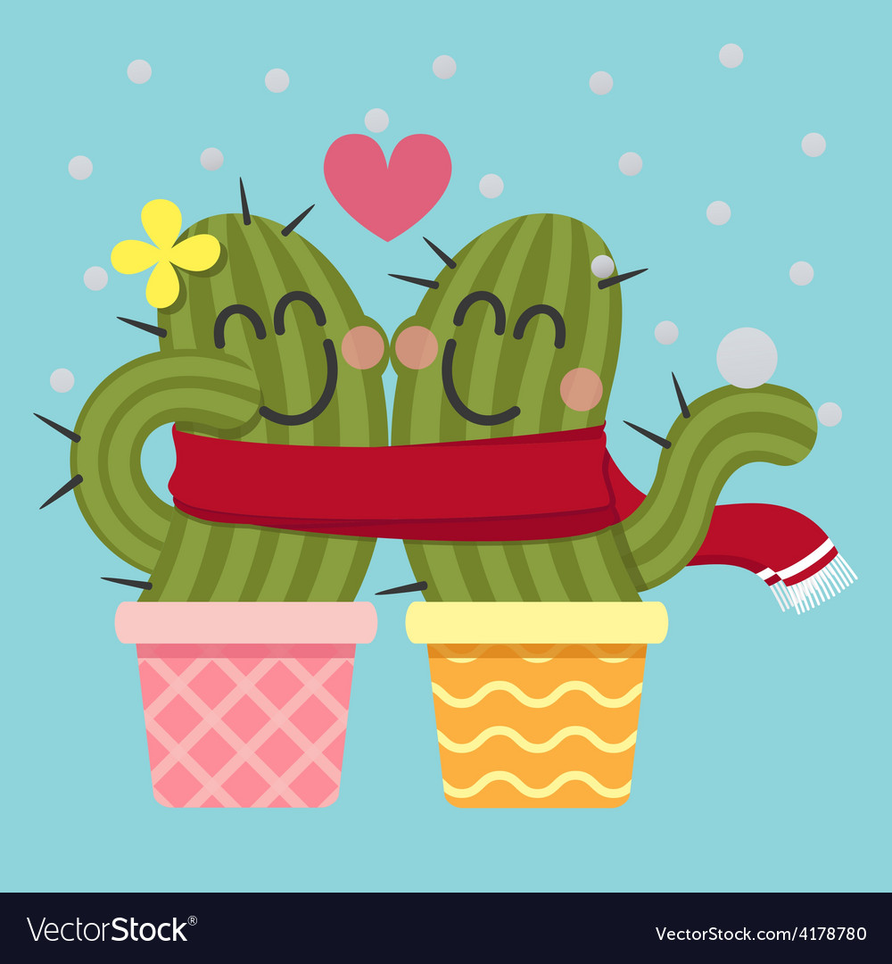 Scarf cactus vector | Price: 1 Credit (USD $1)