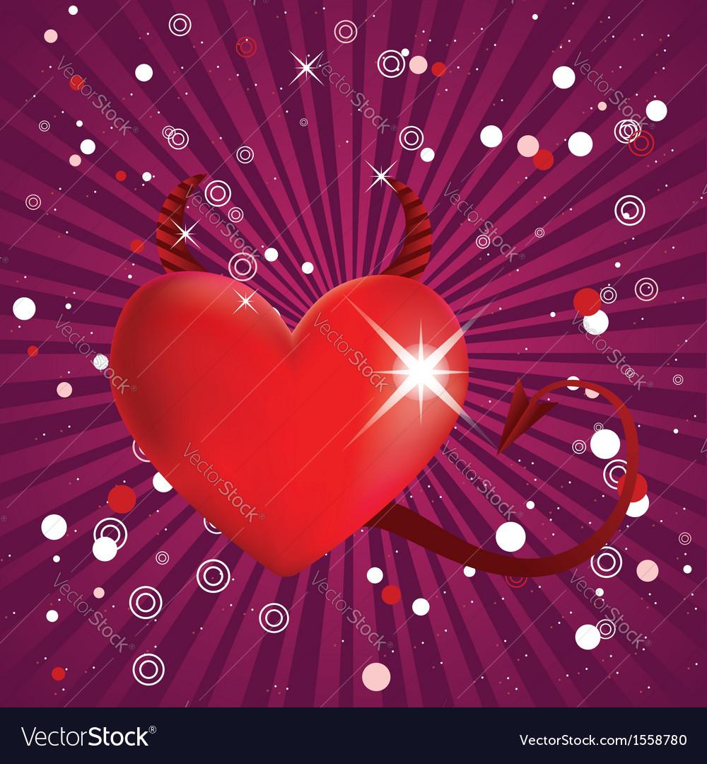 Shiny devil heart vector | Price: 1 Credit (USD $1)