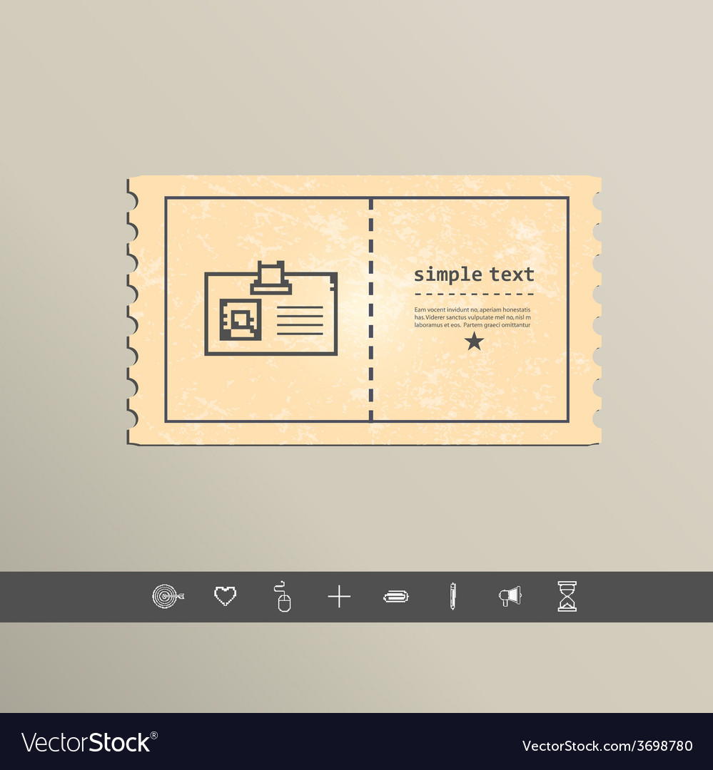 Simple stylish pixel icon cards design vector | Price: 1 Credit (USD $1)