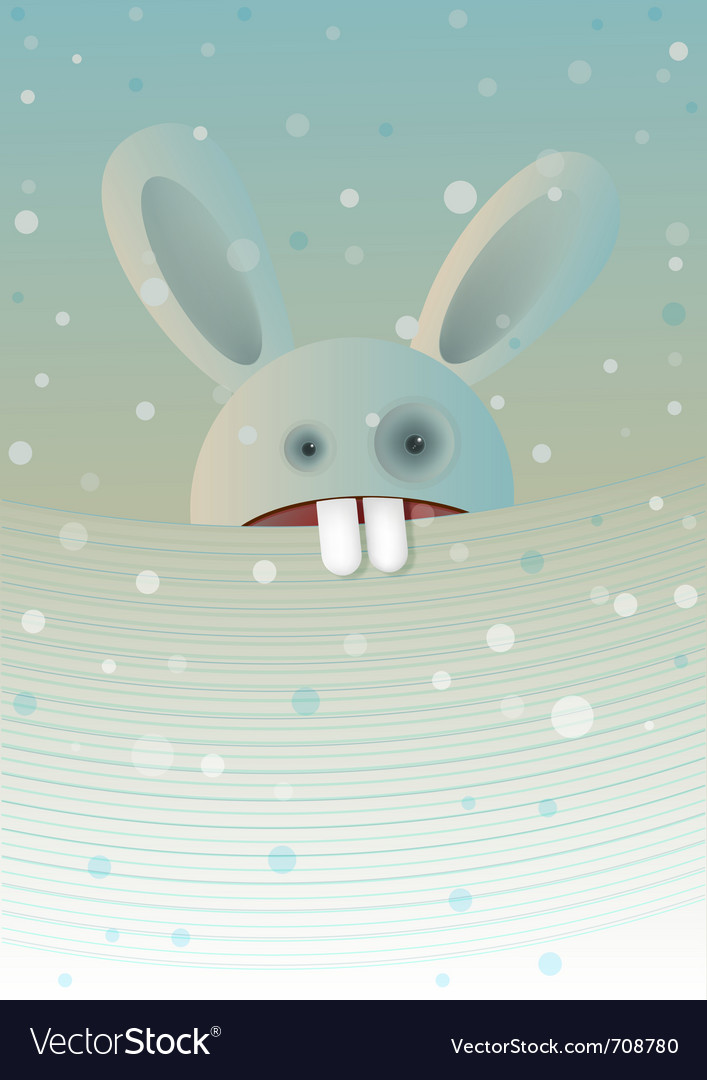 Snow rabbit vector | Price: 3 Credit (USD $3)