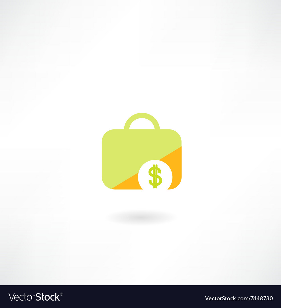 Suitcase with dollar icon vector | Price: 1 Credit (USD $1)