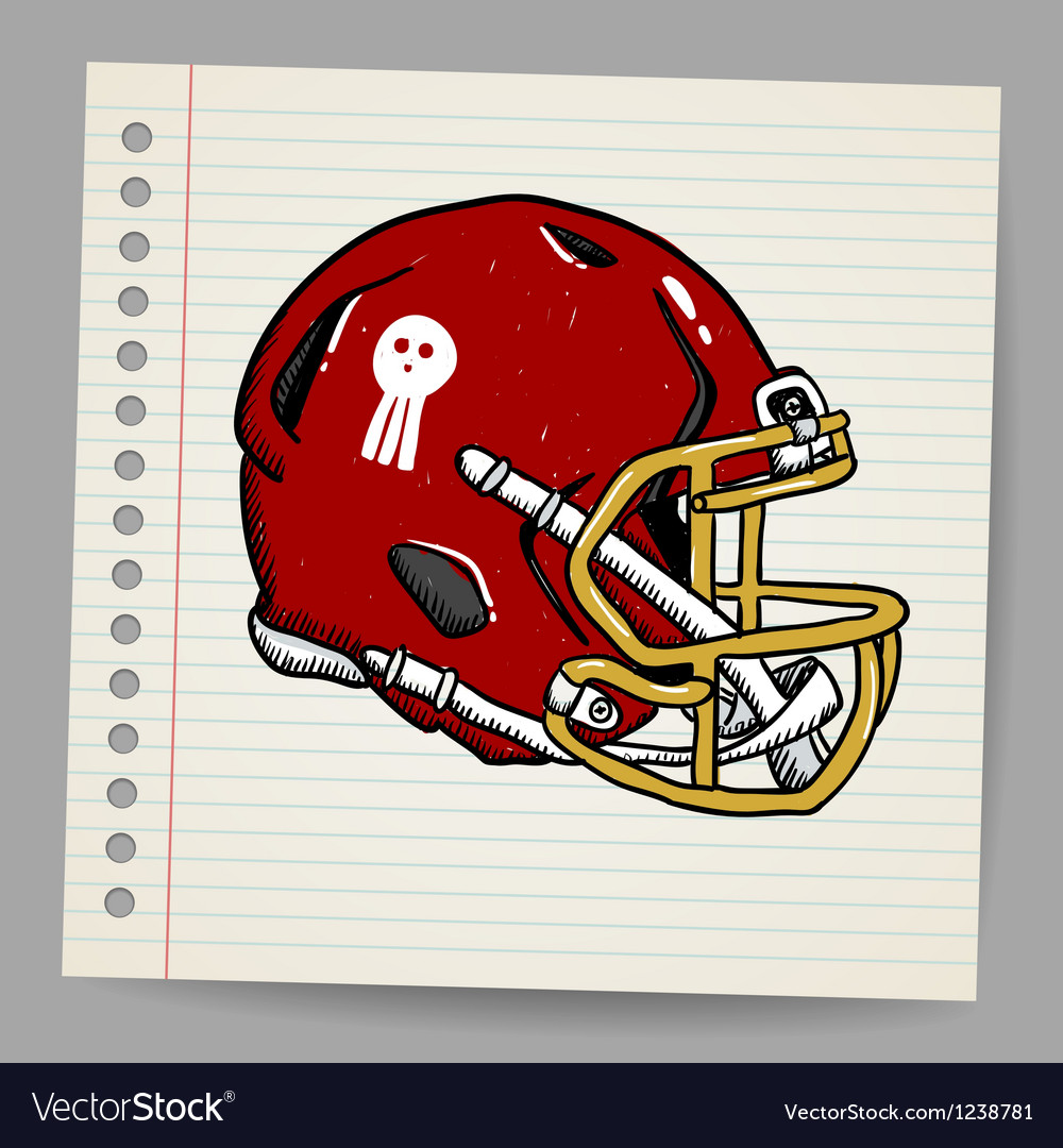 American football helmet vector | Price: 1 Credit (USD $1)