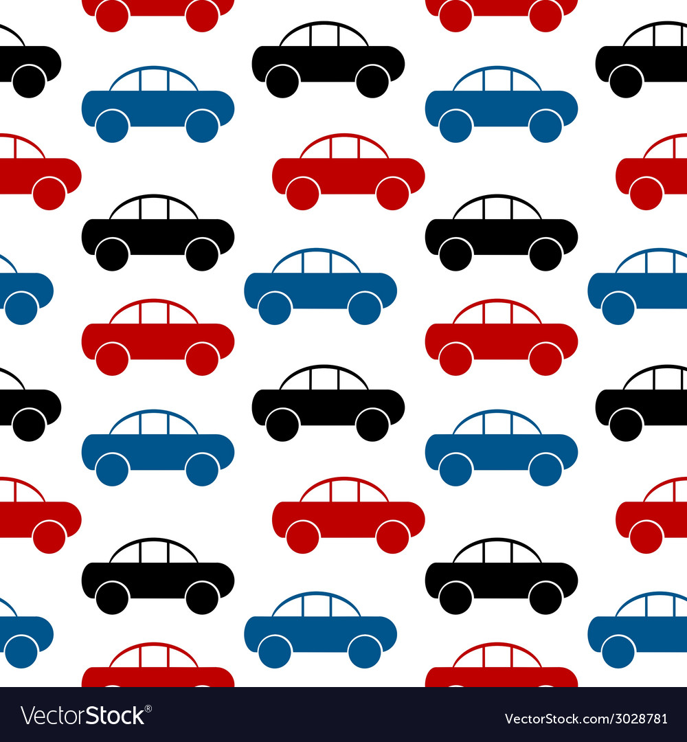 Car icon seamless pattern vector | Price: 1 Credit (USD $1)