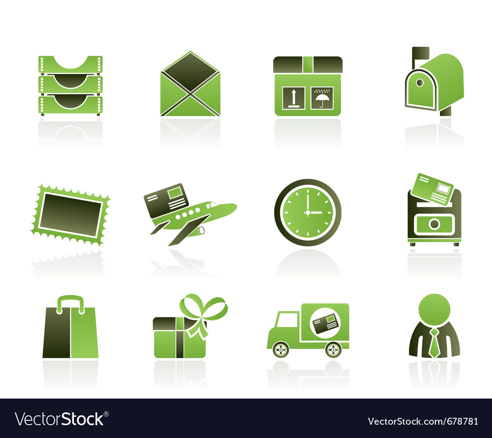 Correspondence and office icons vector | Price: 1 Credit (USD $1)