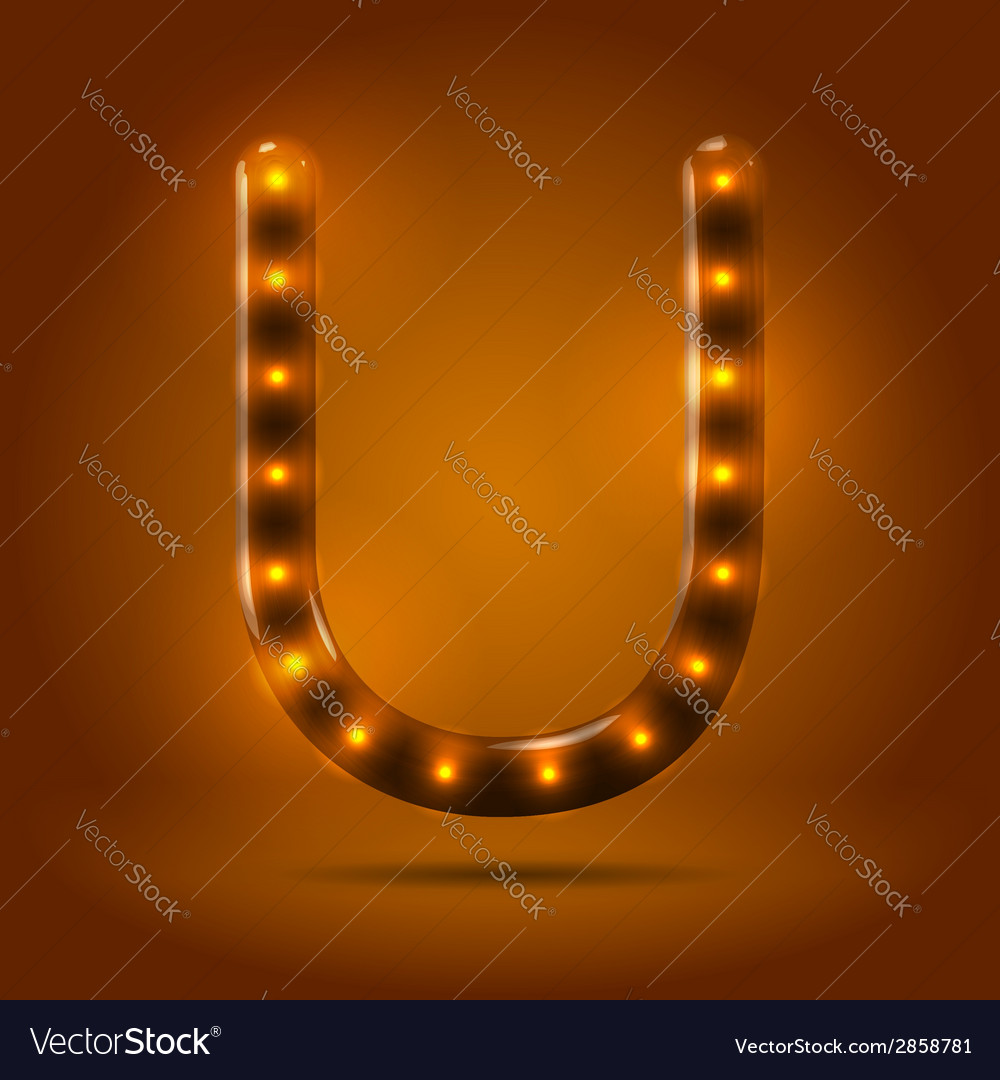 Glossy retro caramel sweet backlit up abc vector | Price: 1 Credit (USD $1)