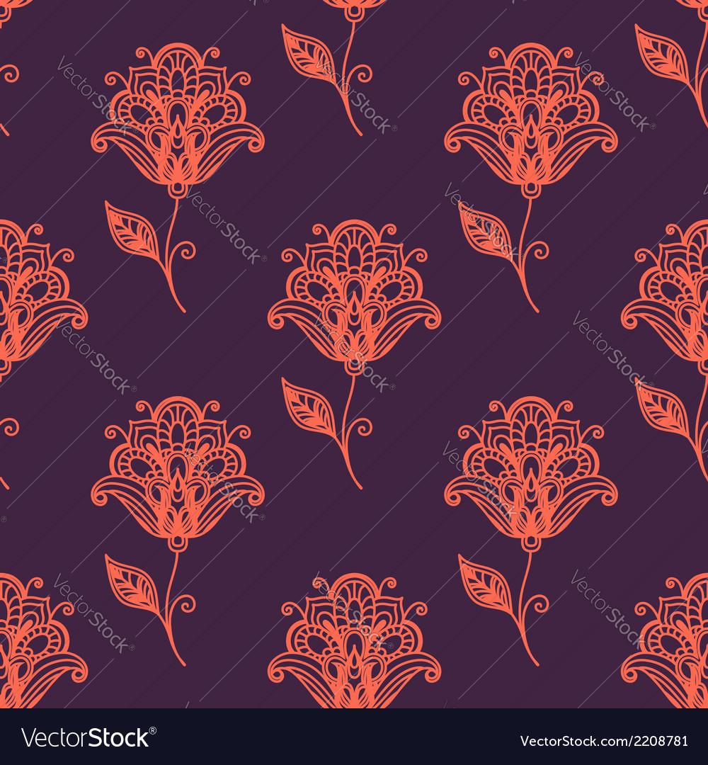 Persian paisley seamless pattern vector | Price: 1 Credit (USD $1)