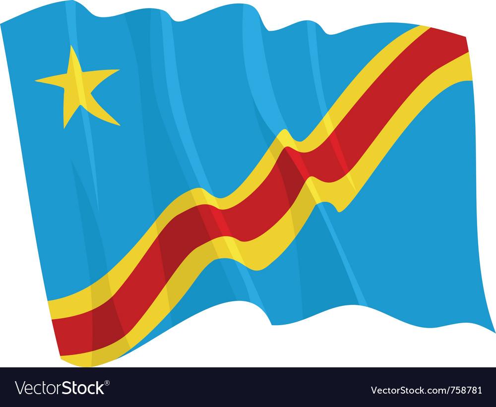 Political waving flag of congo vector | Price: 1 Credit (USD $1)