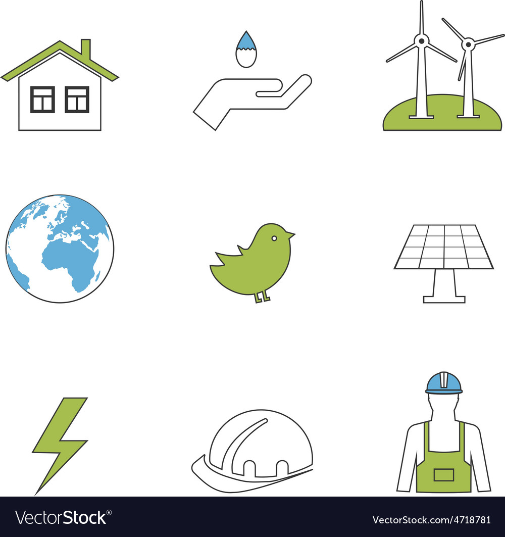 Power energy eco friendly icons vector | Price: 1 Credit (USD $1)