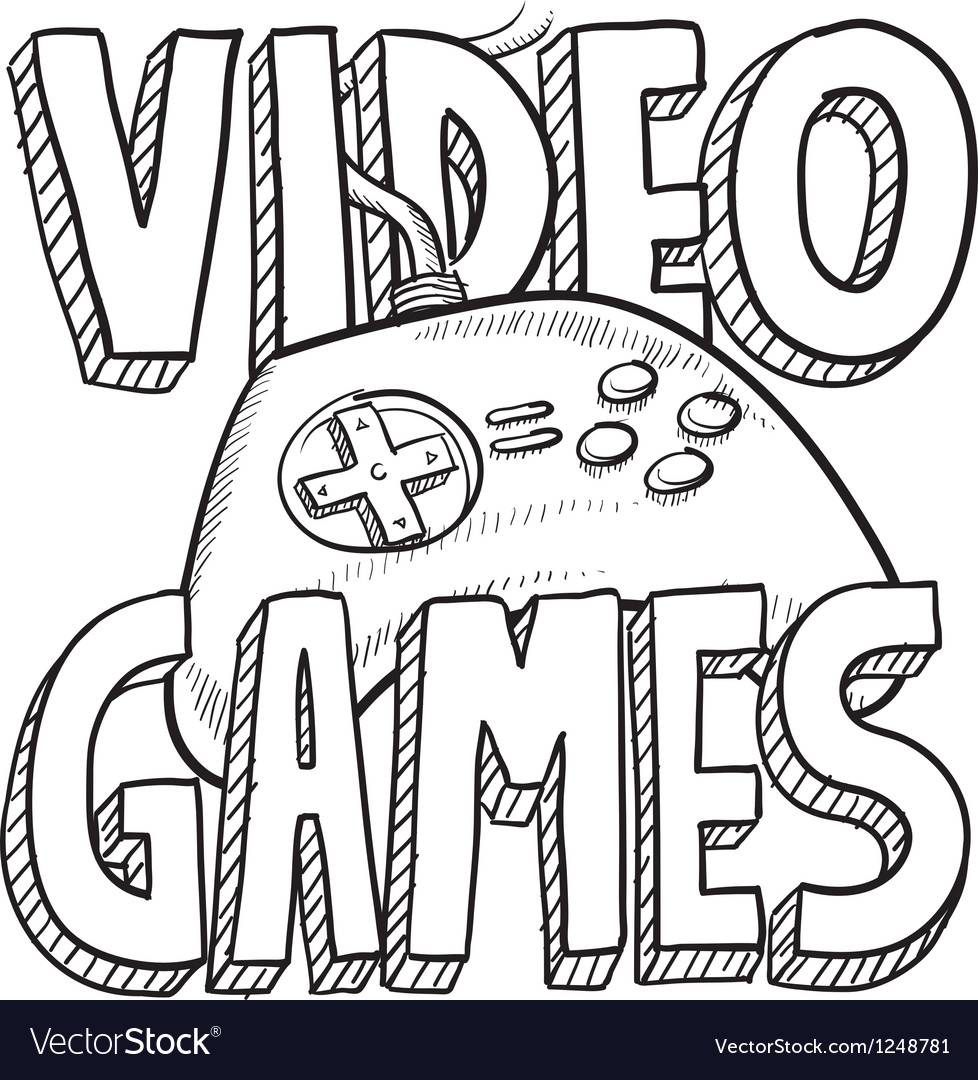 Video games vector | Price: 1 Credit (USD $1)