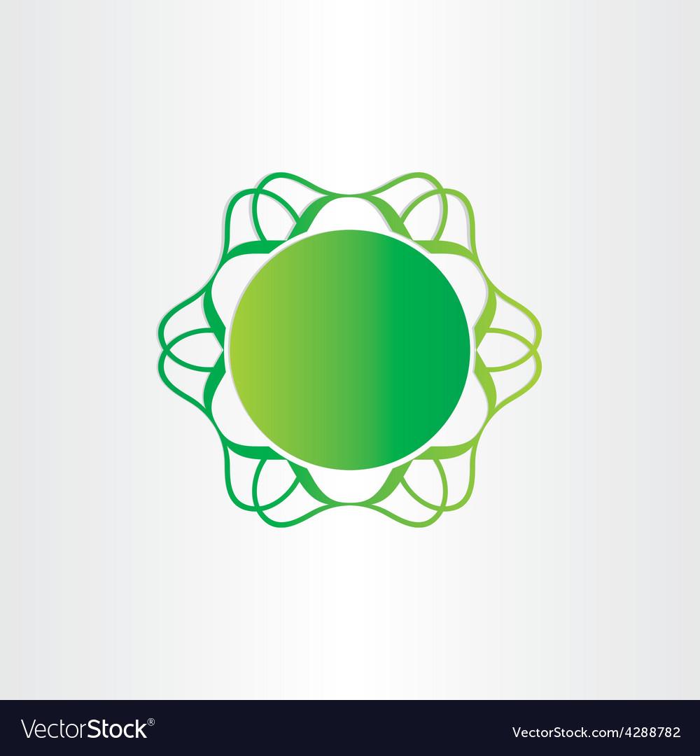 Atom or molecule chemistry sign science icon vector | Price: 1 Credit (USD $1)