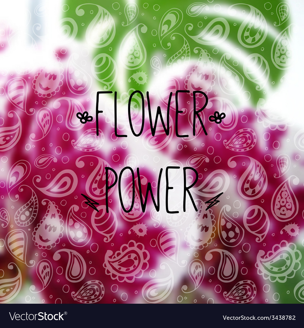Blurred photographic background and text flower vector   Price: 1 Credit (USD $1)