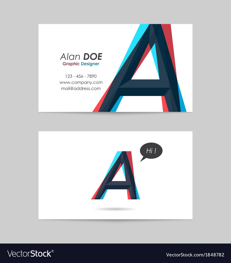 Business card template - letter a vector | Price: 1 Credit (USD $1)
